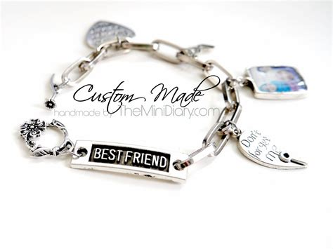 custom made best friend charm bracelet diary of a best