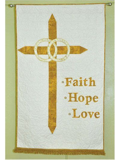 Wedding Banner For Church by Wedding Banner Of Faith Quilt Pattern By