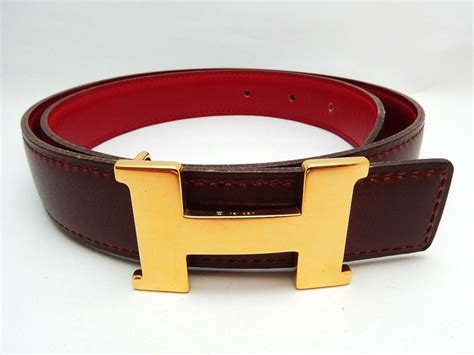 authentic hermes belt reversible leather brown gold