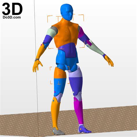 figure 3d model 3d printable articulated figure