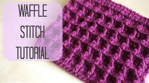 Waffle Stitch Crochet Tutorial | crochet how to crochet the waffle stitch bella coco doovi