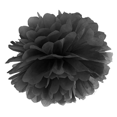 Pom Pom Kertas Uk 25cm paper pom pom 25cm black wedding and store