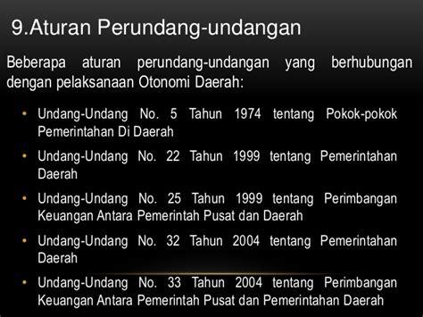 Uu Ri No 32 Dan 33 Tahun 2004 Tentang Otoda 2004 2010 pkn otonomi daerah