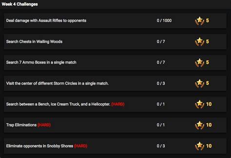 fortnite week 4 challenges fortnite season 4 week 4 challenges revealed rant