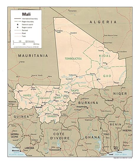 political map of mali detailed administrative and political map of mali with all