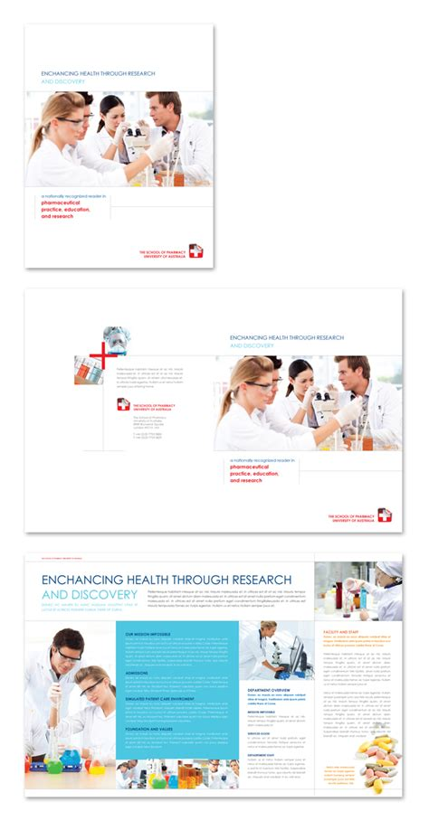 pharmacy brochure template free pharmacy school brochure template