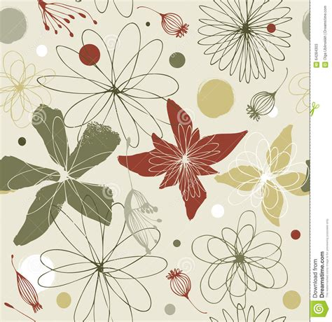 pale colored seamless floral pattern in vintage style pale colored