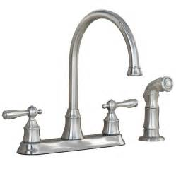 Stainless Steel Kitchen Faucet by Shop Aquasource Stainless Steel Pvd 2 Handle High Arc