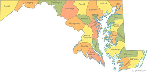 maryland map counties vector mwra referral directory