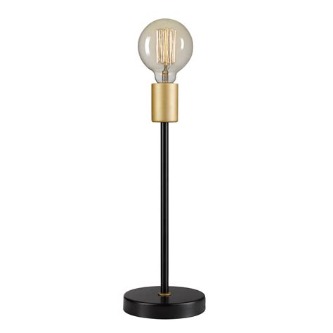 exposed light bulb table l remington 15 table l black finish exposed gold