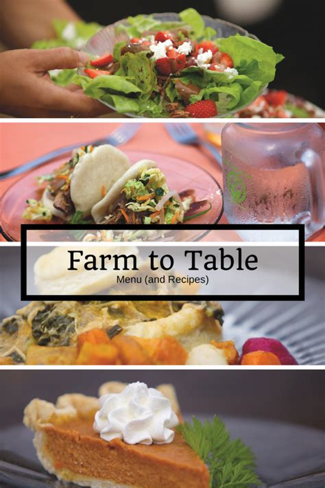 Farmers Table Menu by Farm To Table Menu And Recipes Home Is Here