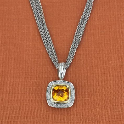 charles krypell sterling silver 14k yellow gold citrine