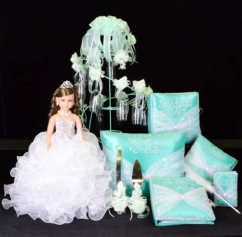quinceanera star themes star quinceanera package toasting set doll pillows