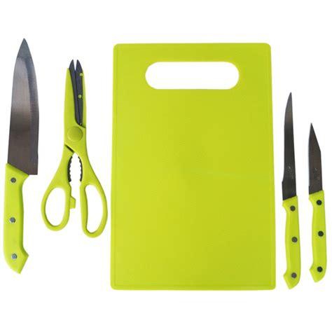 Pisau Set Plus Talenan Plastik pisau set dapur lengkap plus talenan hijau shopee