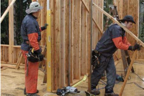 plumbing  straightening walls jlc  framing