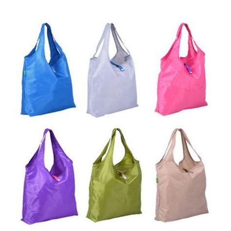Foldable Environmental Reusable Shopping Bags Kantong Plastik Green M newly folding reusable shopping storage ᗗ bag bag waterproof pouch shoulder tote tote handbag