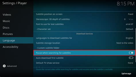 kodi how to enable automatic subtitles search