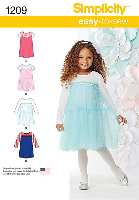 pattern review simplicity simplicity 1209 child s knit dresses