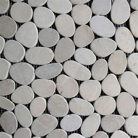 tan beige sliced pebble mosaic