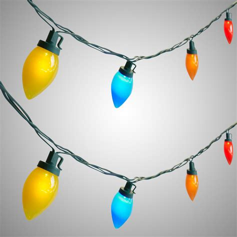 17 multicolor led c9 string lights set of 2 christmas