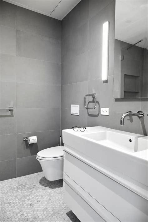 modern bathroom  penny  tile floor hgtv