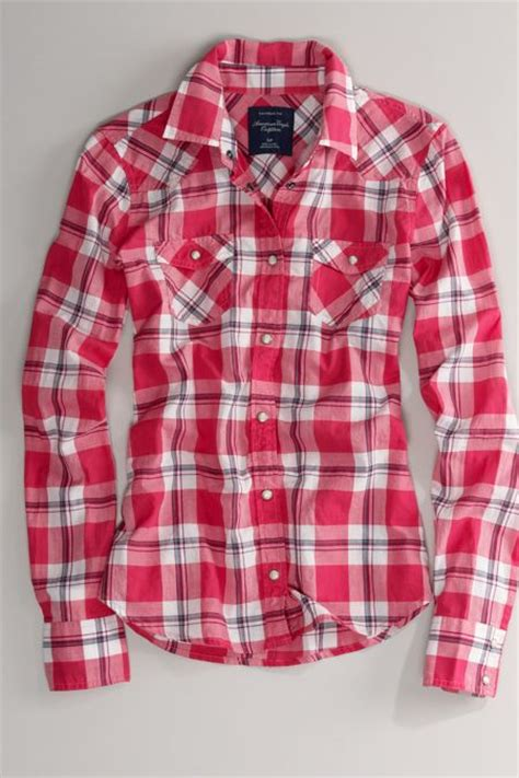 Plaid Shirt By American Eagle aeo s plaid western shirt from american eagle outfitters
