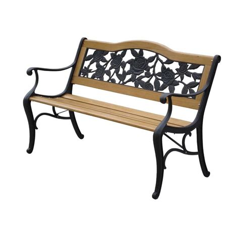 metal wood bench lyon bench garden furniture in wood metal the garden