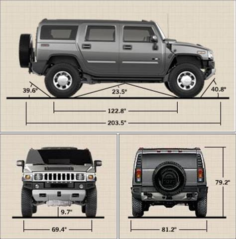hummer h2 length dimensions hummer forums by elcova