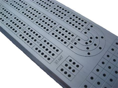 solid aluminum 3 player cribbage board tracks to 121 points