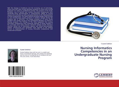 undergraduate nursing programs nursing informatics competencies in an undergraduate