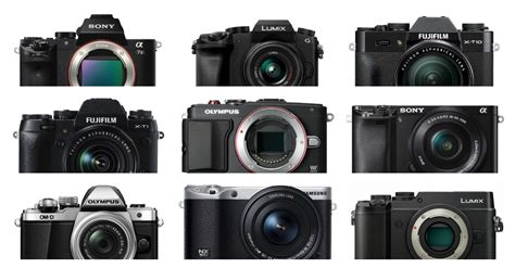 most popular mirrorless the 19 most popular compact system and mirrorless cameras