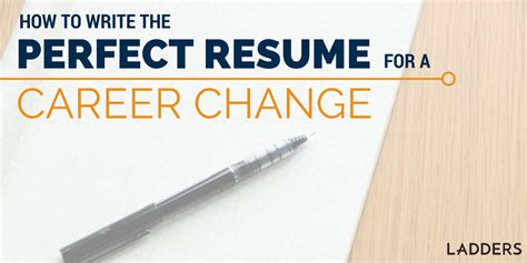 Sample Cfo Resume by How To Write The Perfect Resume To Make A Career Change
