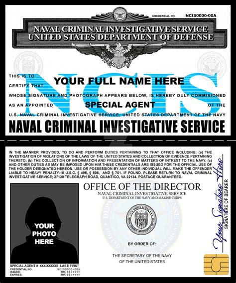 ncis id card template ncis credentials by rustybauder on deviantart