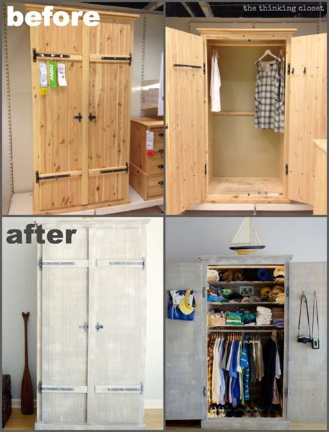 ikea hack closet fjell wardrobe ikea hack before after the thinking