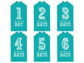 Printable Countdown Calendar Template by Free Templates Printable Gift Tags Cards