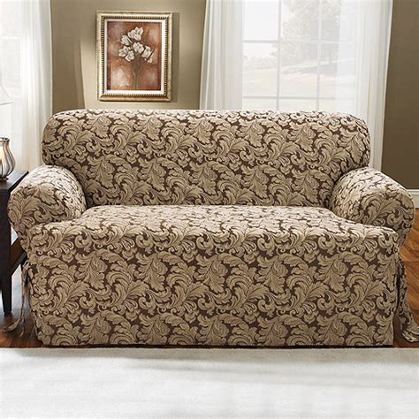 Leather Slipcovers by Sure Fit Stretch Leather Recliner Slipcover Brown