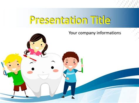 Kids Brushing A Tooth Powerpoint Templates Free Ppt Background Free Animated Dental Powerpoint Templates