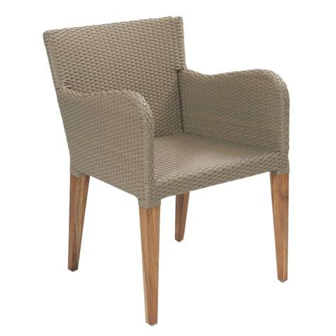 Contemporary Kubu and Teak Rattan Outdoor Dining Chairs UK