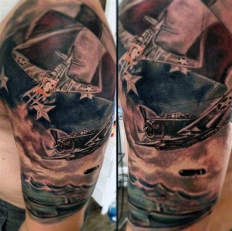 jet life tattoo top 60 best american flag tattoos for usa designs