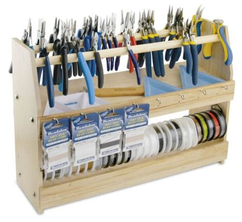 how to organize your portable shed storage dig this design beading station workspace organization dowel storage hooks