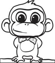 free printable monkey coloring pages cute and funny