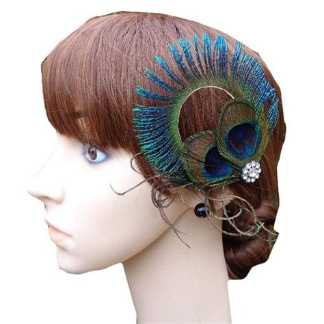 Wedding Hair Accessories Ebay Uk by Peacock Feather Rhinestone Hair Pin Clip