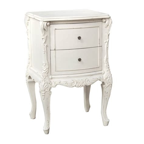 White 2 Drawer Bedside Table by Two Drawer Bedside Table In White By Out There Interiors
