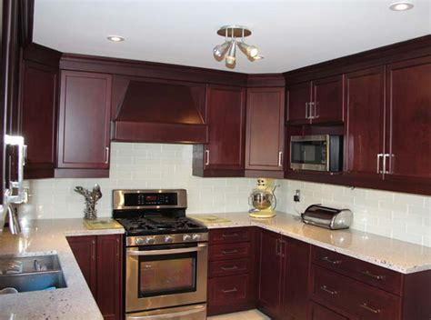 Red Cherry Cabinets Kitchen | dark red cherry kitchen cabinets quicua com
