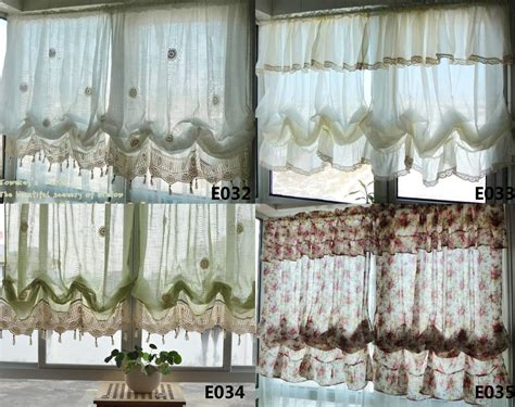 country cafe curtains french country white balloon shade pull up austrian cafe