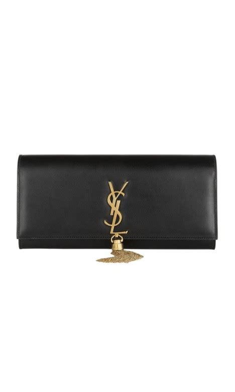 Ysl Monogram Classic Clutch monogram clutch in black by yves laurent for rent