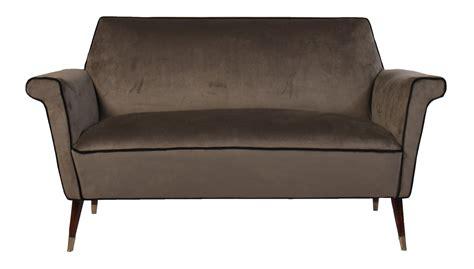 mid century settee italian mid century modern upholstered sofa 1960 modernism