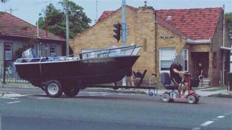 tow boat mobility scooter charges for disqualified driver who allegedly used