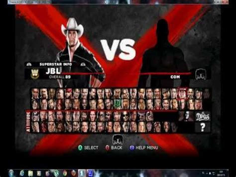 wwe 2k13 roster wwe 13 wii all character youtube