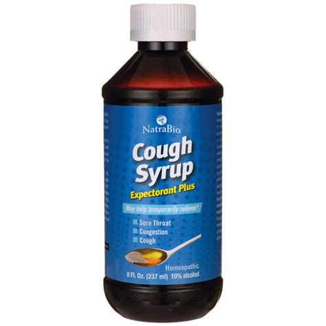 couch syrup natrabio cough syrup expectorant plus 8 fl oz 237 ml